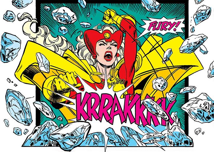 Fury (Lyta Hall) breaks the ice