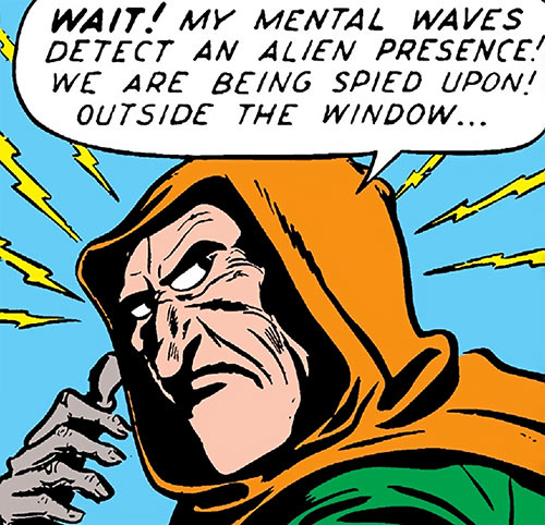 Future Man (Marvel / Timely comics 1940s) mental waves