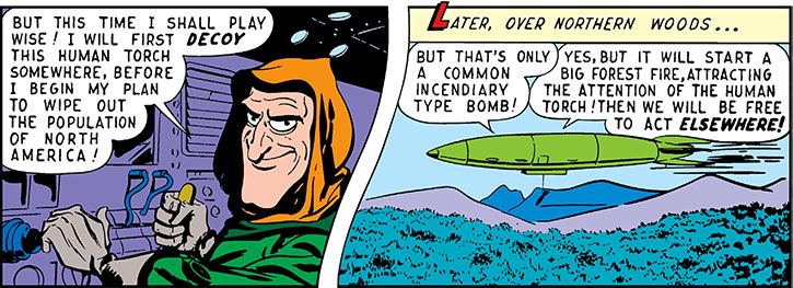 Future Man (Marvel / Timely comics 1940s) and his rocketship
