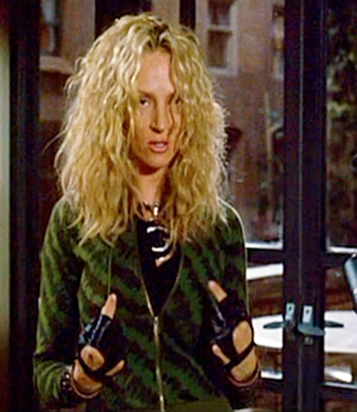G-Girl (Uma Thurman in My Super Ex-Girlfriend) with a green striped vest