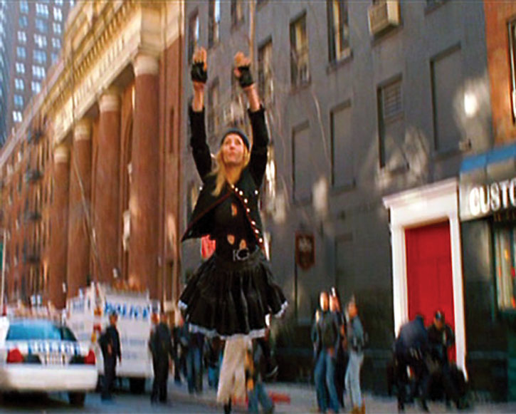 G-Girl (Uma Thurman) takes flight