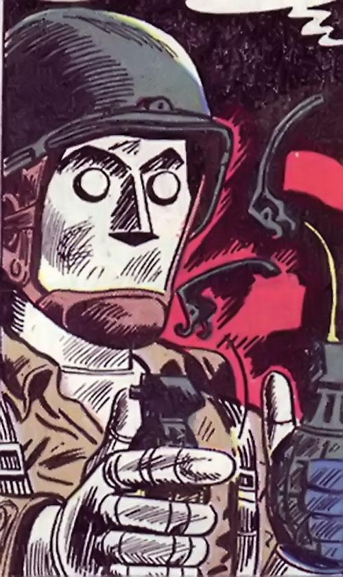 G.I. Robot Joe (DC Comics) pops 2 grenades