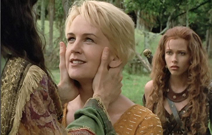 Gabrielle (Renee O'Connor) and Amarice (Jennifer Sky)