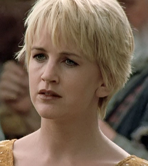 Gabrielle (Renee O'Connor in Xena) disgusted