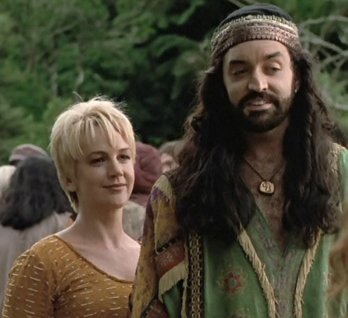 Gabrielle (Renee O'Connor in Xena) and Eli