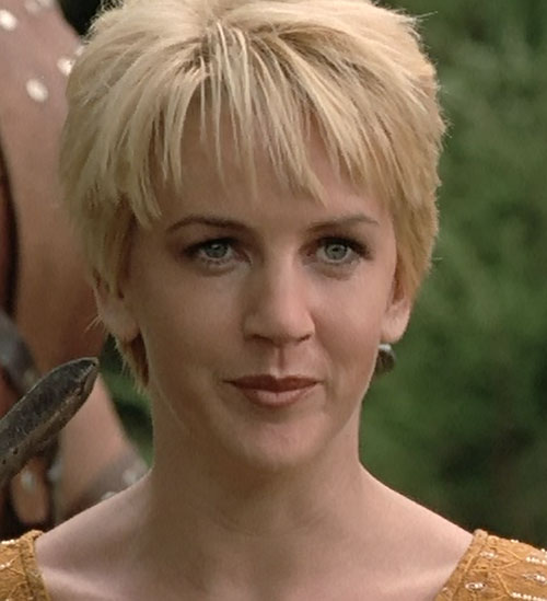 Gabrielle (Renee O'Connor in Xena) slight smirk