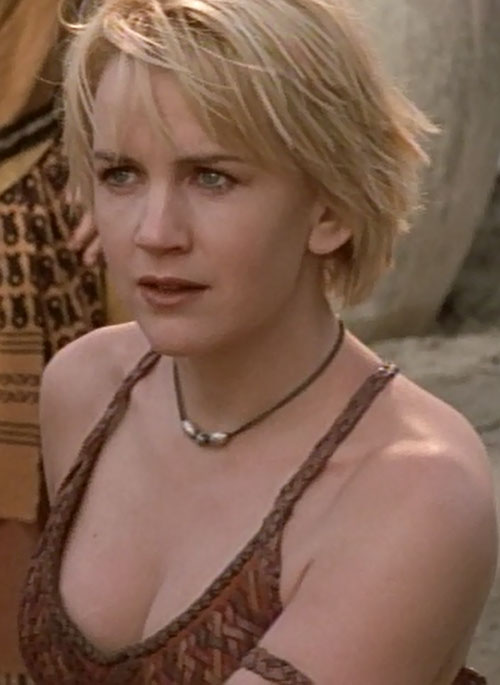 Gabrielle (Renee O'Connor in Xena) face closeup