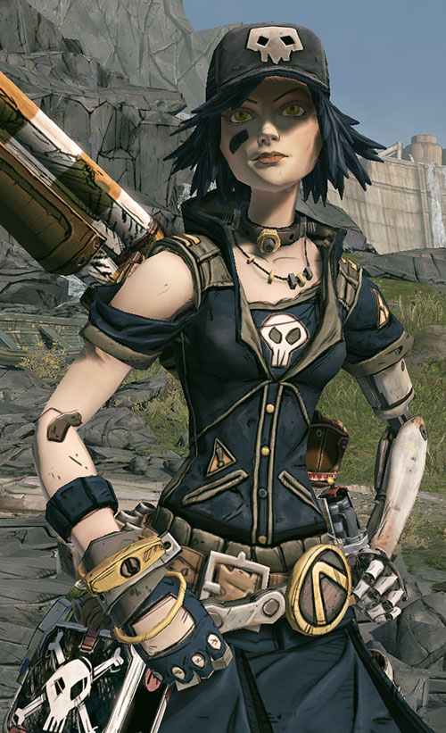 Gaige from Borderlands (Mechromancer) in black with a cap