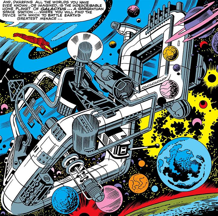 Galactus - Marvel Comics - Taa II space station earliest depiction