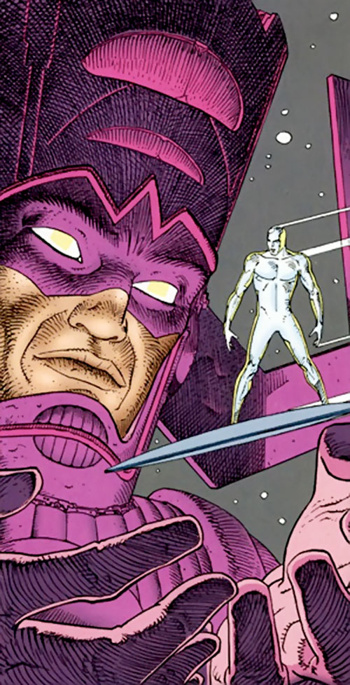 Galactus (Marvel Comics) and the Silver Surfer by Moebius