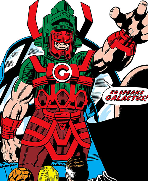 Earliest depiction of Marvel Comics' Galactus by Jack Kirby
