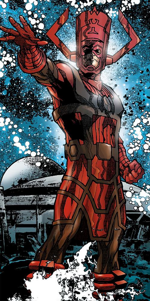 Galactus in a Marvel Comics pose