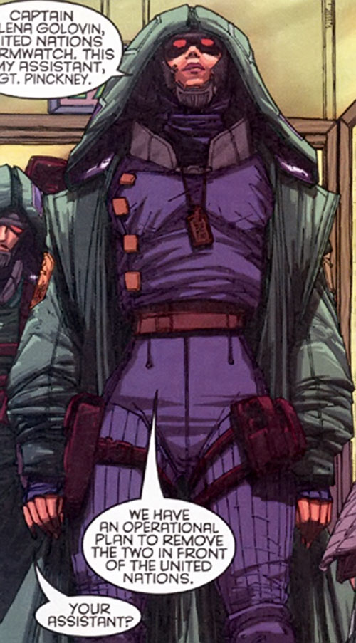 Galena Golovin of Stormwatch Team Achilles (Wildstorm Comics) in sniping gear