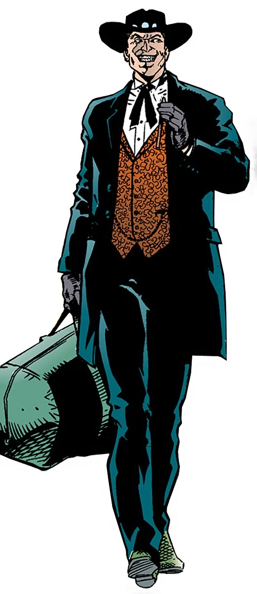Gamble dressed as an Old West gambler