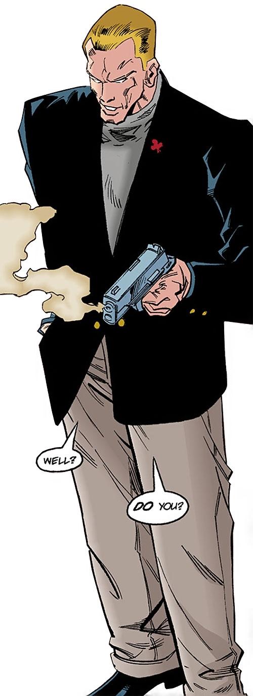 Gamble dressed up with a smoking gun