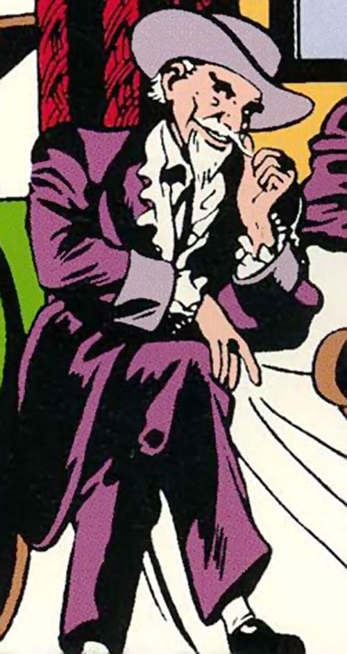The Gambler (Stephen Sharpe) stroking his moustache