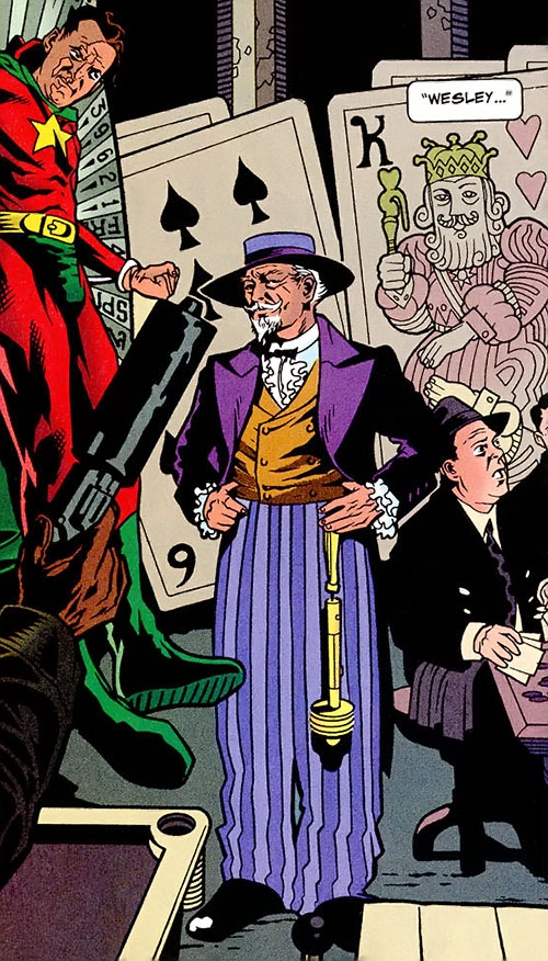 The Gambler (Stephen Sharpe) and a captured Starman