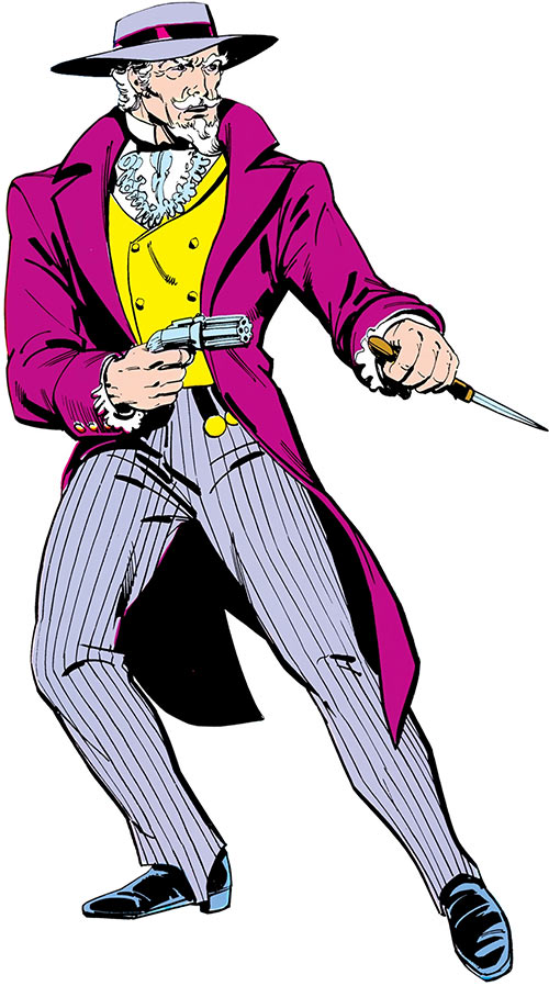 The Gambler (DC Comics) (Stephen Sharpe) over a white background