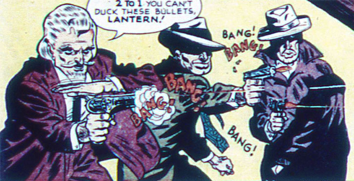 The Gambler and two mobsters open fire