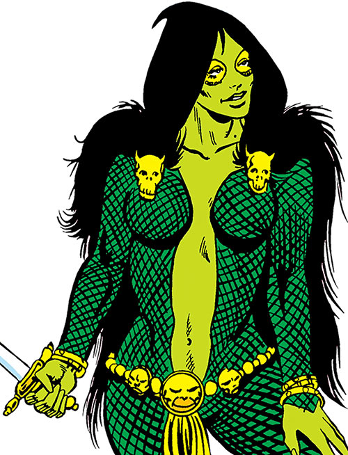 Gamora (early) over a white background (Marvel Comics)