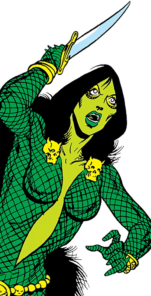 Gamora (early) about to stab (Marvel Comics)