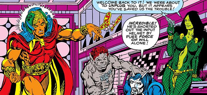 Gamora and Pip free Adam Warlock (Marvel Comics) (Jim Starlin)