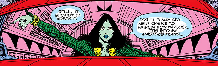 A young Gamora flying a spaceship (Marvel Comics)