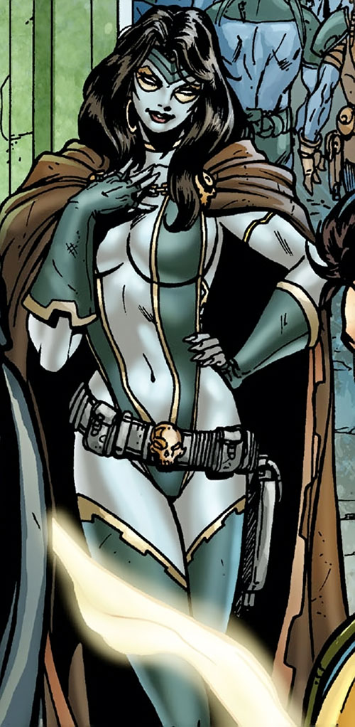 Gamora during the Annihilation (Marvel Comics) looking coy