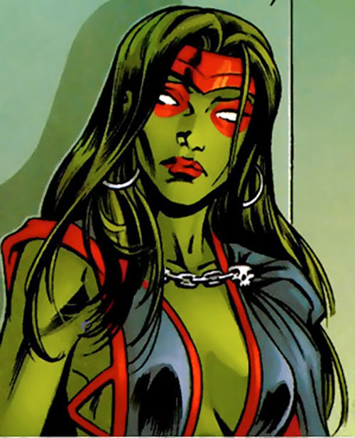 Gamora of the Guardians of the Galaxy (Marvel Comics) portrait