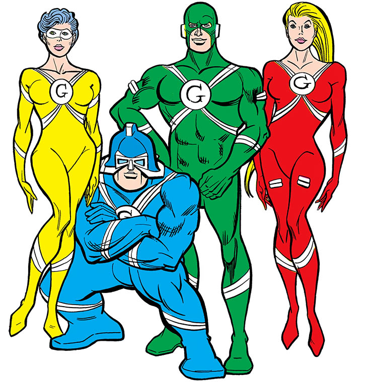 The Gang - DC Comics - Supergirl enemies - Team shot