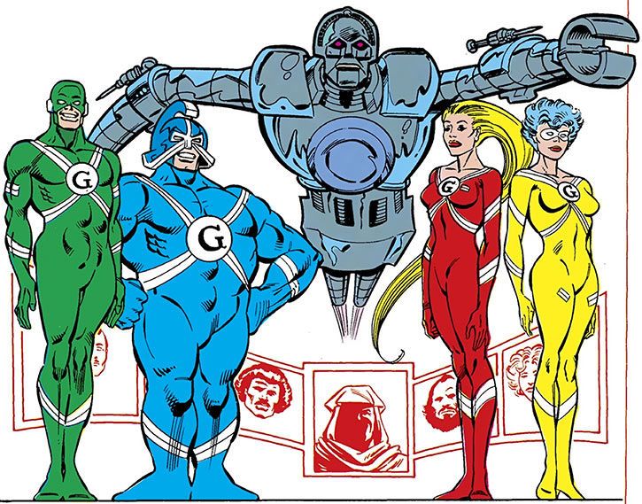The Gang - DC Comics - with Matrix Prime - Supergirl enemies
