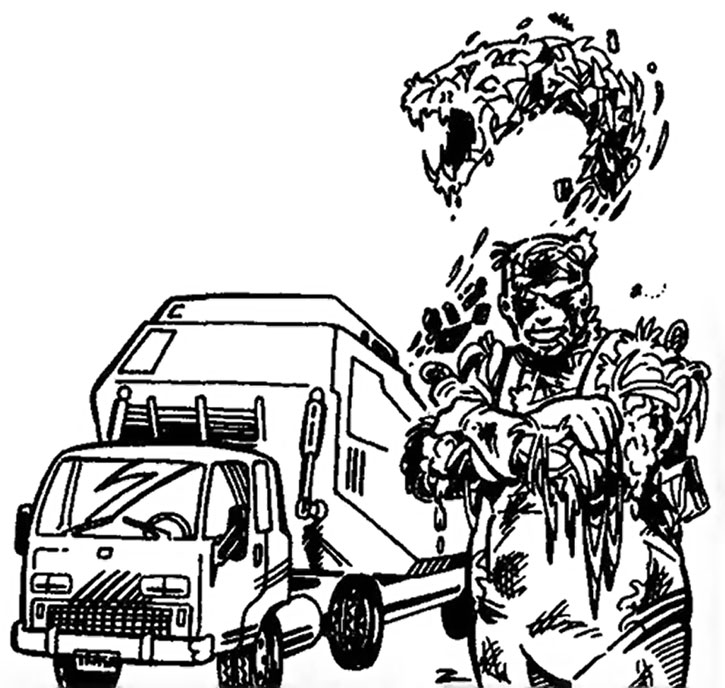 The Garbageman from the Villains & Vigilantes RPG