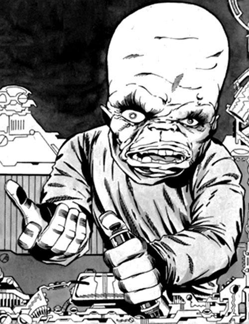 Gargoyle (Marvel Comics) (Yuri Topolov) B&W art