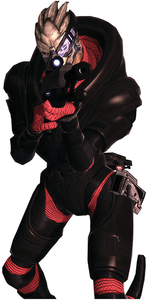 Garrus Vakarian in Mass Effect in Colossus armor