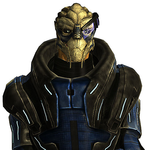 Garrus Vakarian in Mass Effect frontal view