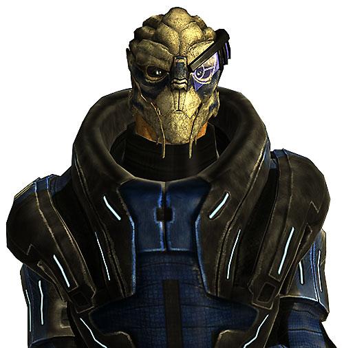 Garrus Vakarian in Mass Effect frontal view