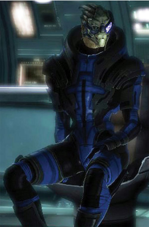 Garrus Vakarian in Mass Effect, sitting