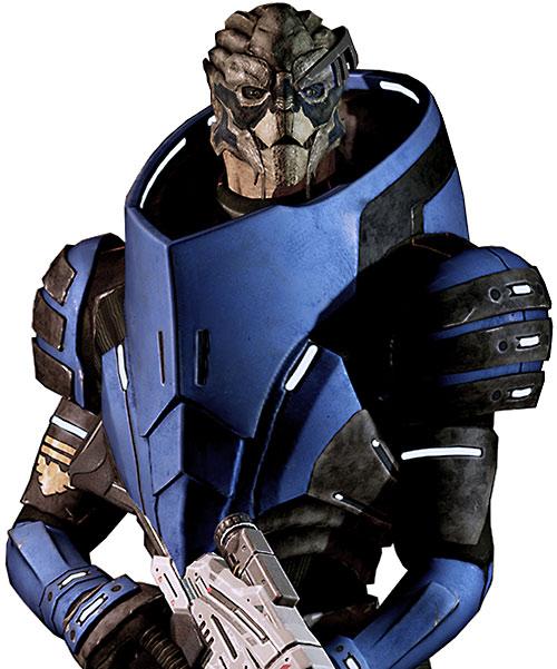 Garrus Vakarian (Mass Effect 2) happy with a Mantis