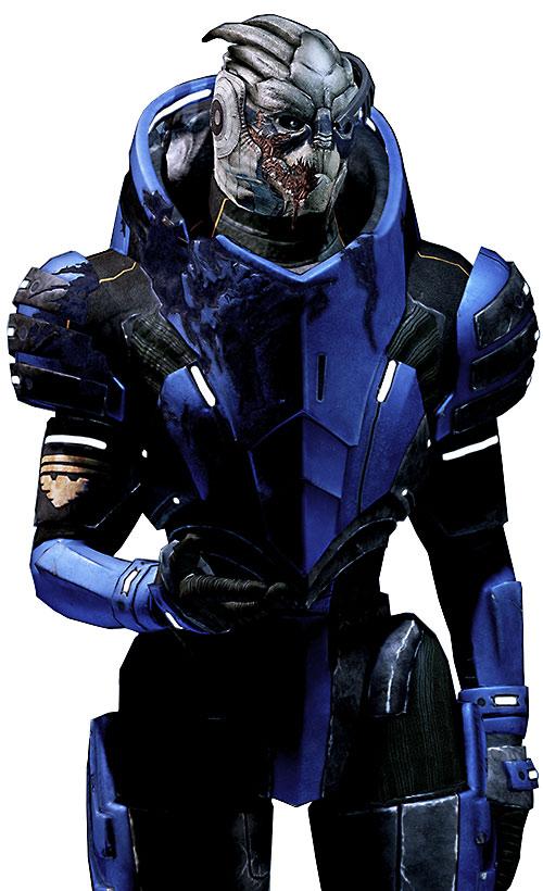 Garrus Vakarian (Mass Effect 2) with heavy scar