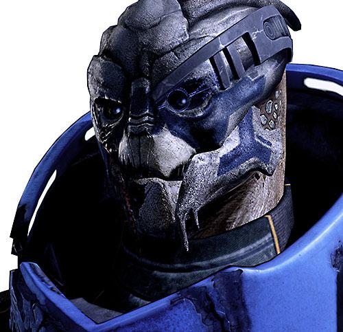 Garrus Vakarian (Mass Effect 2) face closeup with visor