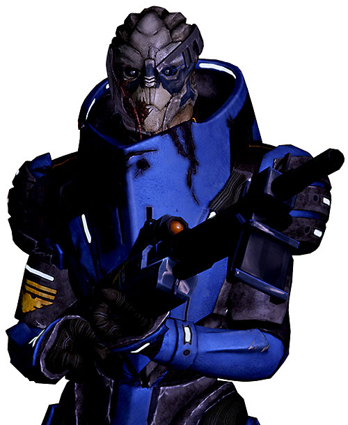 Garrus Vakarian (Mass Effect 2) with Incisor at the ready