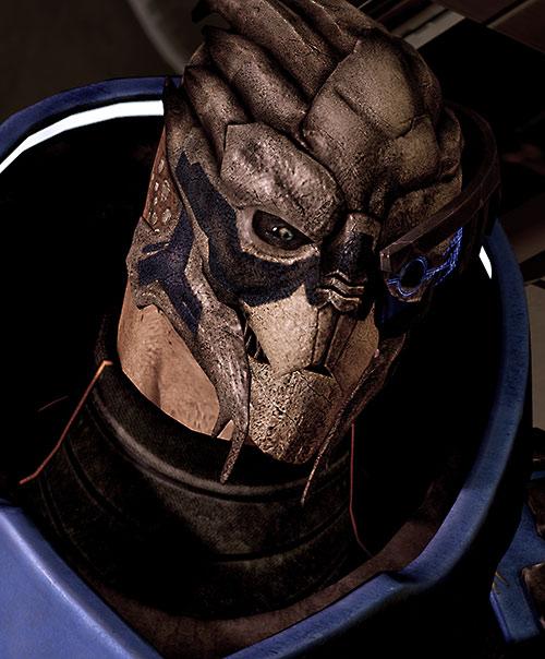 Garrus Vakarian (Mass Effect 2) smiling