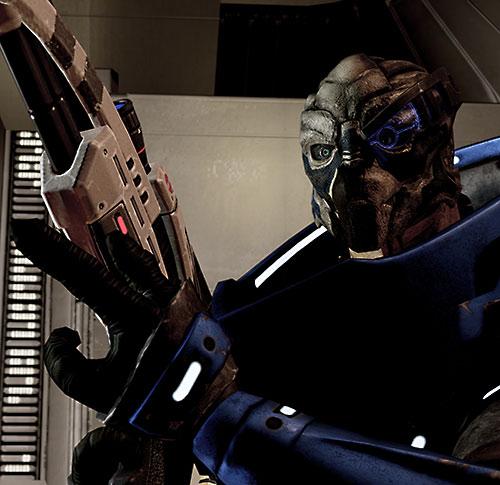 Garrus Vakarian (Mass Effect 2) shadowed with Mantis