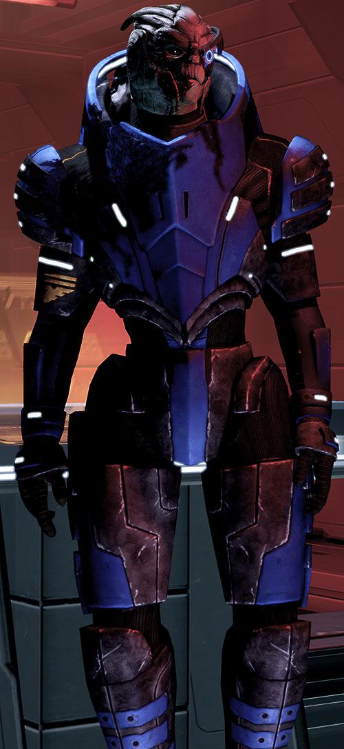 Garrus Vakarian (Mass Effect 2) in orange lighting