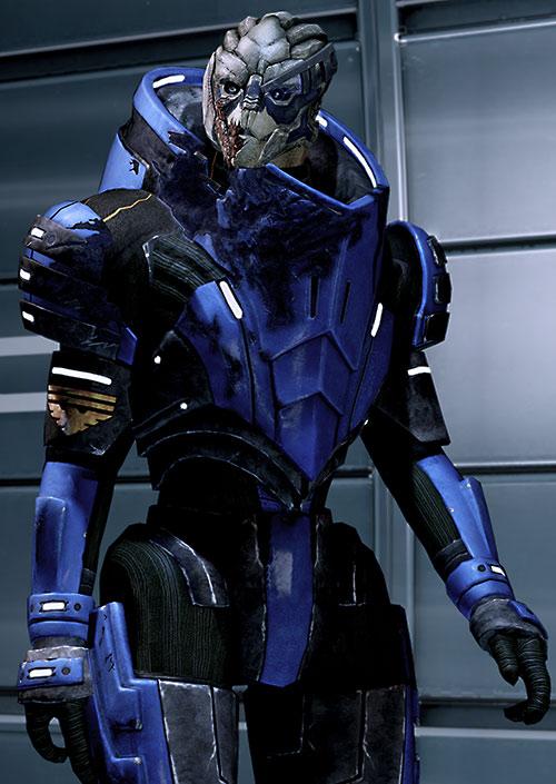 Garrus Vakarian (Mass Effect 2) damaged armor