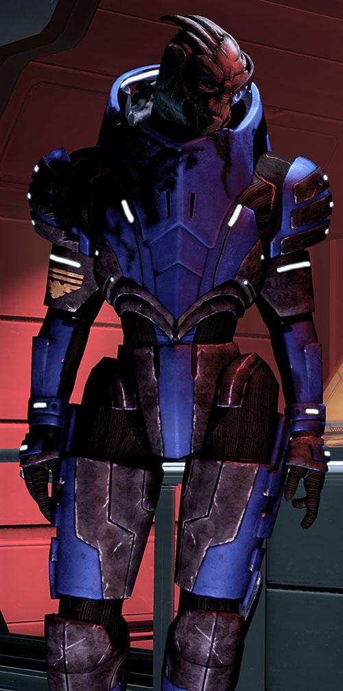 Garrus Vakarian (Mass Effect 2) in red lighting