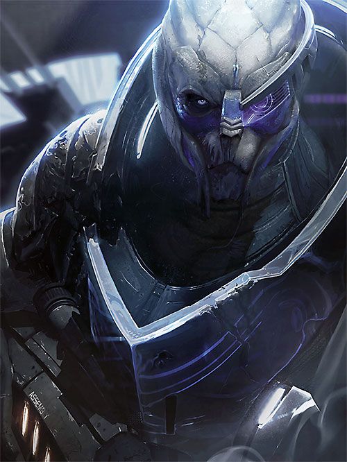 Garrus Vakarian (Mass Effect 2) art portrait