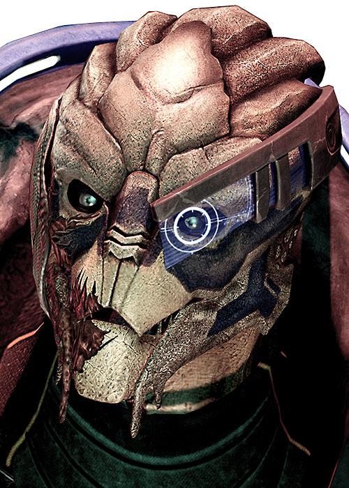 Garrus Vakarian (Mass Effect 2) high resolution face closeup