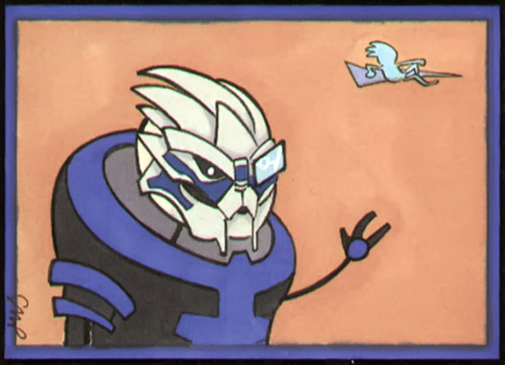 Garrus drawing by Stacie Ponder