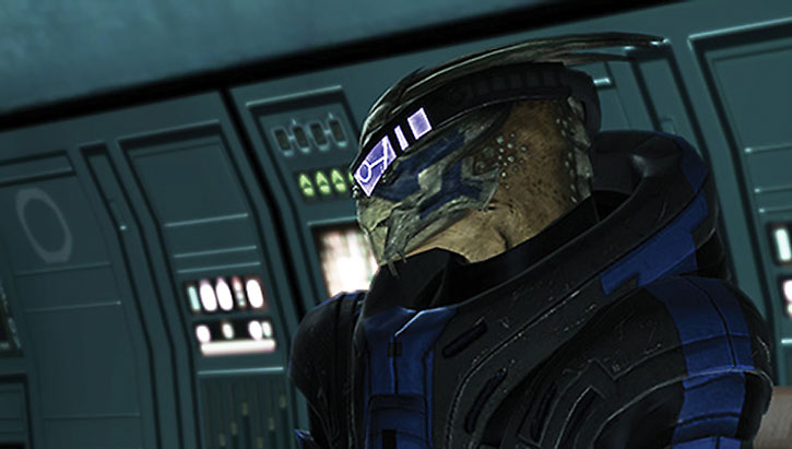 Garrus' head and his visor